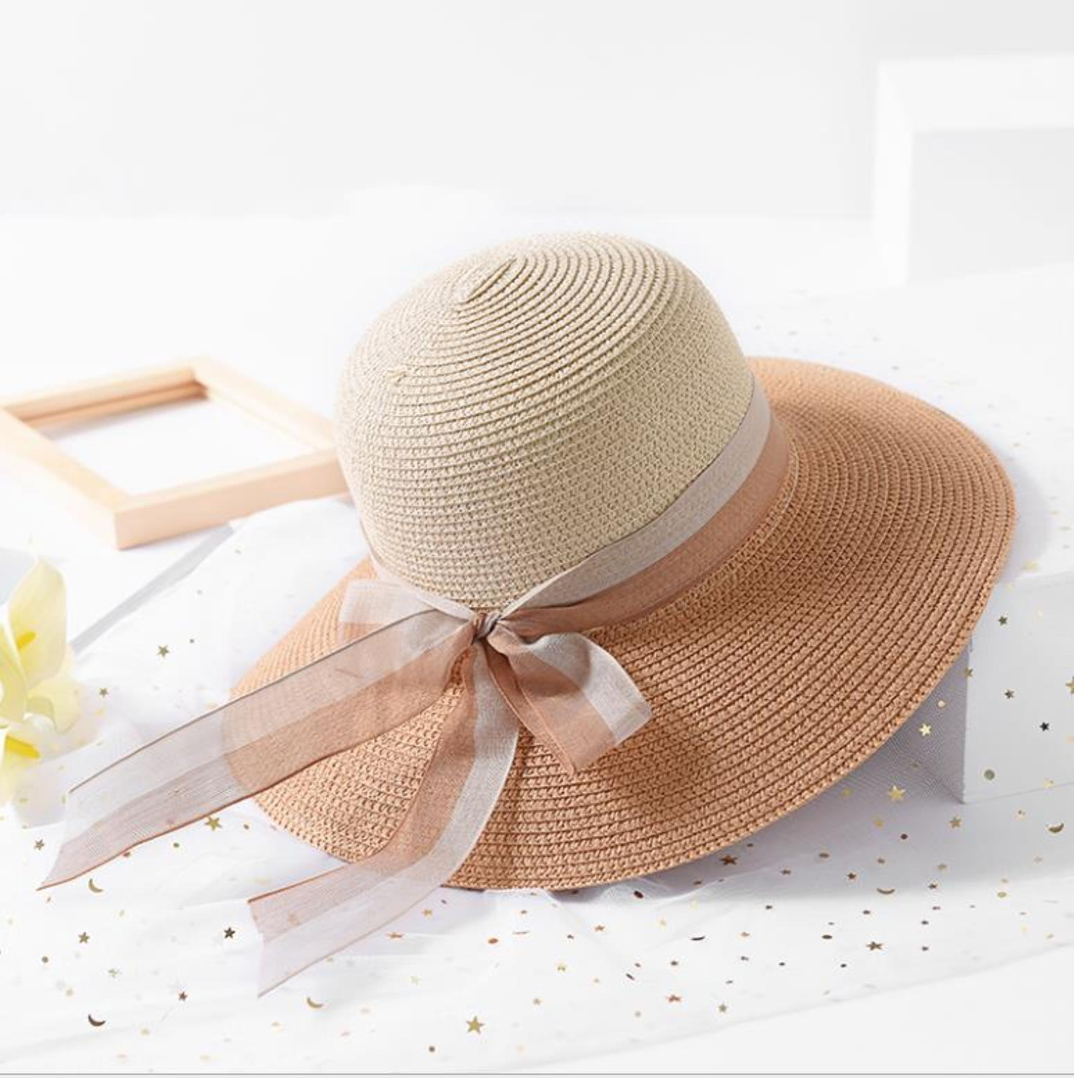 Caps Hats, Scarves & Gloves Fashion Aessories Women Sun Hats Hand Made St Female Bow-Knot Wide Brim Beach Hat Casual Summer Cap1 Drop