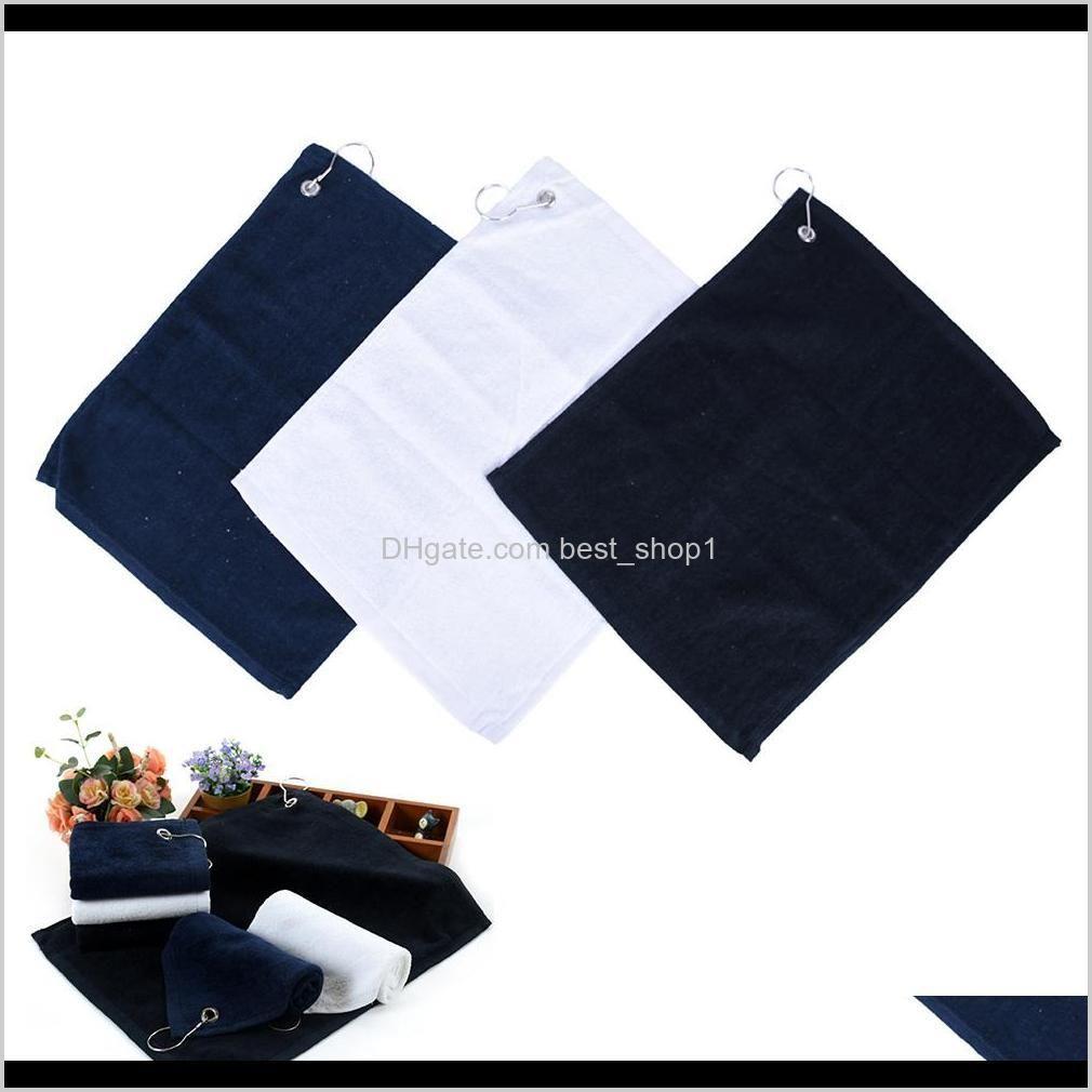 30*40cm golf towel cotton comfortable sport hand towel with mental hook carabiner sports golf hand towel