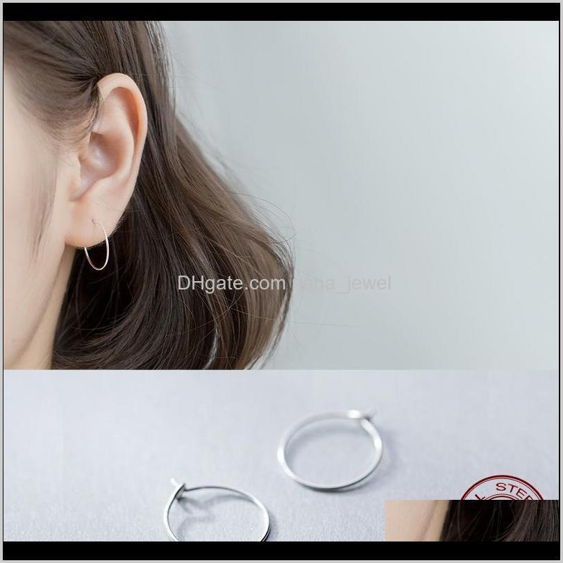 la monada small circle hoop earrings for women silver 925 fine women earrings jewelry minimalist hoop 925 silver