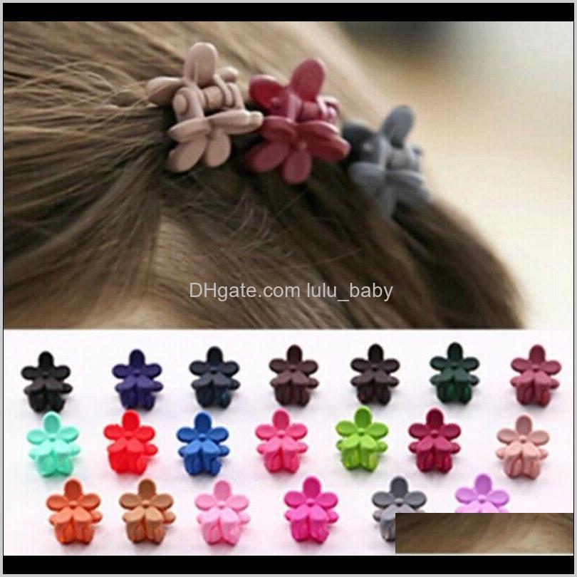 wholesale flower hair clips claw barrette crab hair clamp baby kids accessories