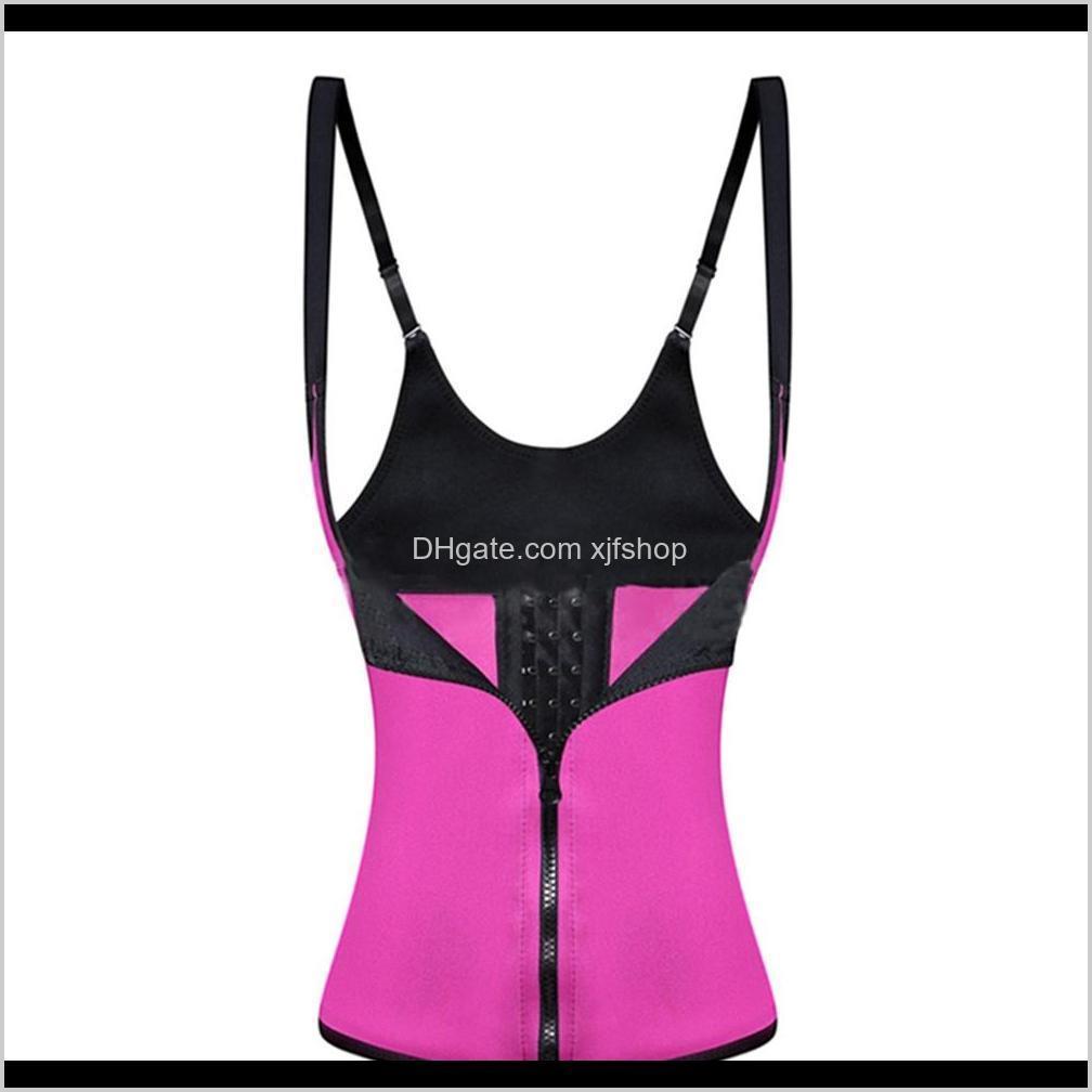 4xl women neoprene corset adjustable hot body shaper waist belt trainer slim vest sport wear shirt