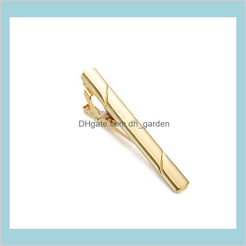 twill stripe tie clips shirts business suits black gold tie bar clasps fashion jewelry for men gift will and sandy drop ship 070037