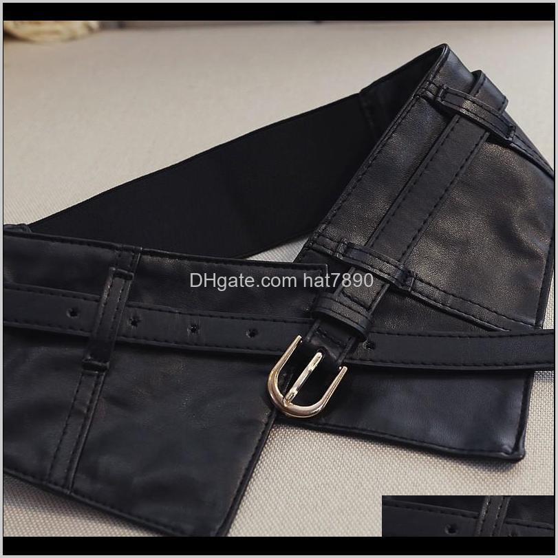 New Women Peplum Wide PU Elastic Belts Slim Corset Black Faux Leather Dress Waist Belt Cummerbund Girdles Pin Buckle Belts mix order