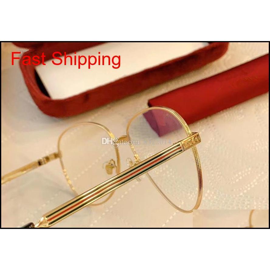 high-quality 228 unisex big pilot sunglasses frame 60-13-145 fashion metal fullrim for prescription glasses multi-color stripe fullset
