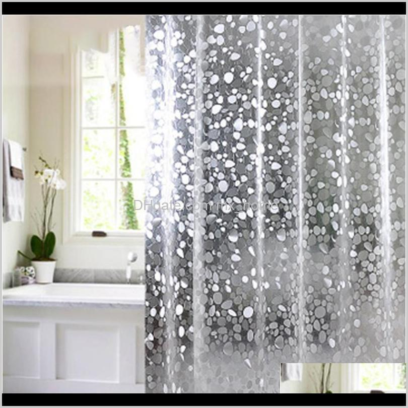 plastic pvc 3d waterproof shower curtain transparent white clear bathroom anti mildew translucent bath curtain with 12 p wmtide