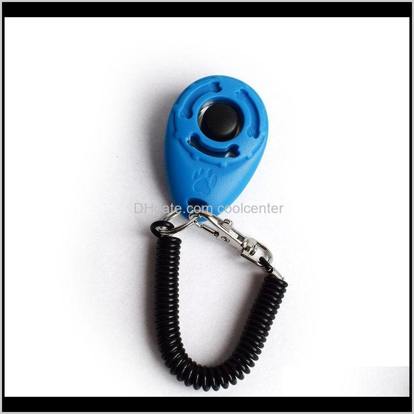 pet dog training click clicker agility training trainer aid dog training obedience supplies with telescopic rope and hook mix 12