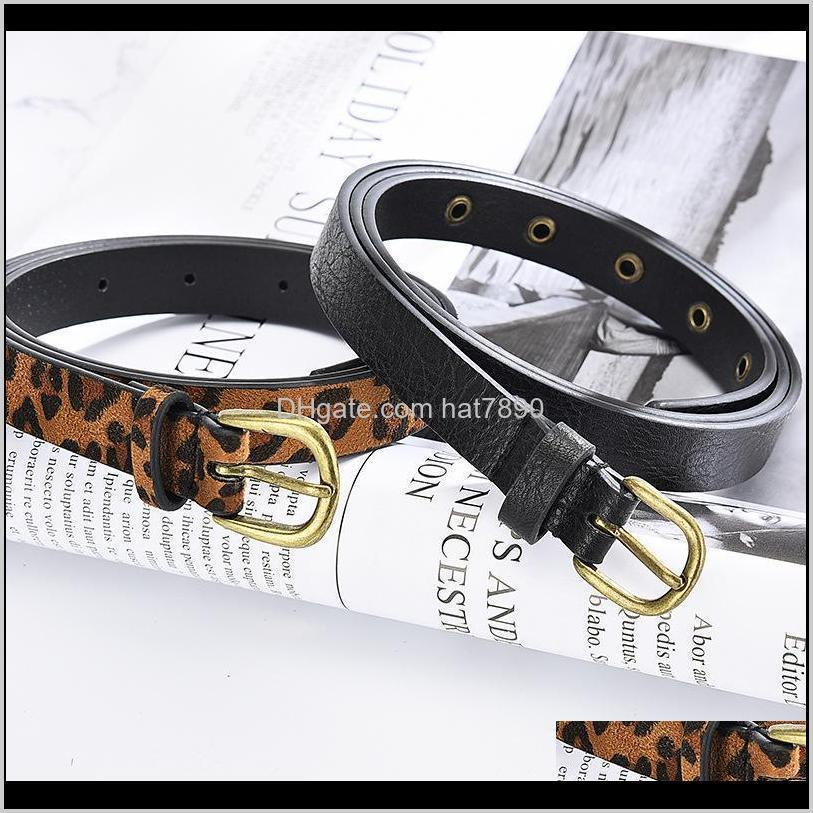 Belt Cummerbund Women Female Horsehair Belt with Leopard Pattern Brass Buckle Metal Buckle Hot Sales Women Pu