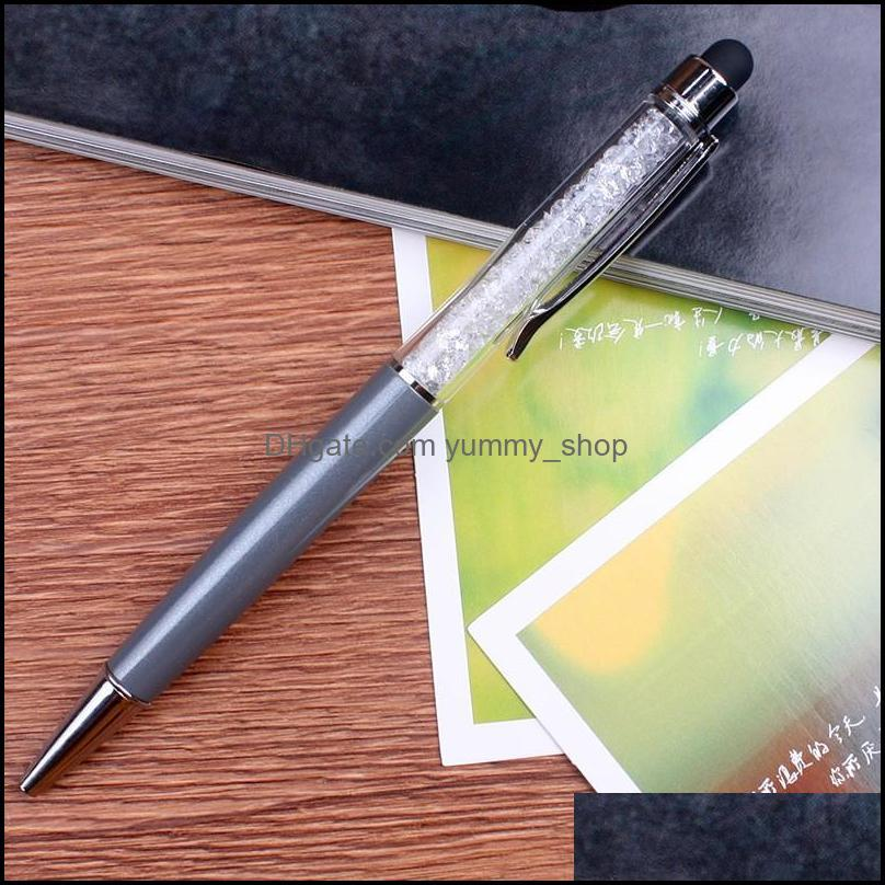 Crystal Ballpoint Pen Creative Stylus Touch Pens for Writing Removable Writing Supplies Office School 1 35gh B