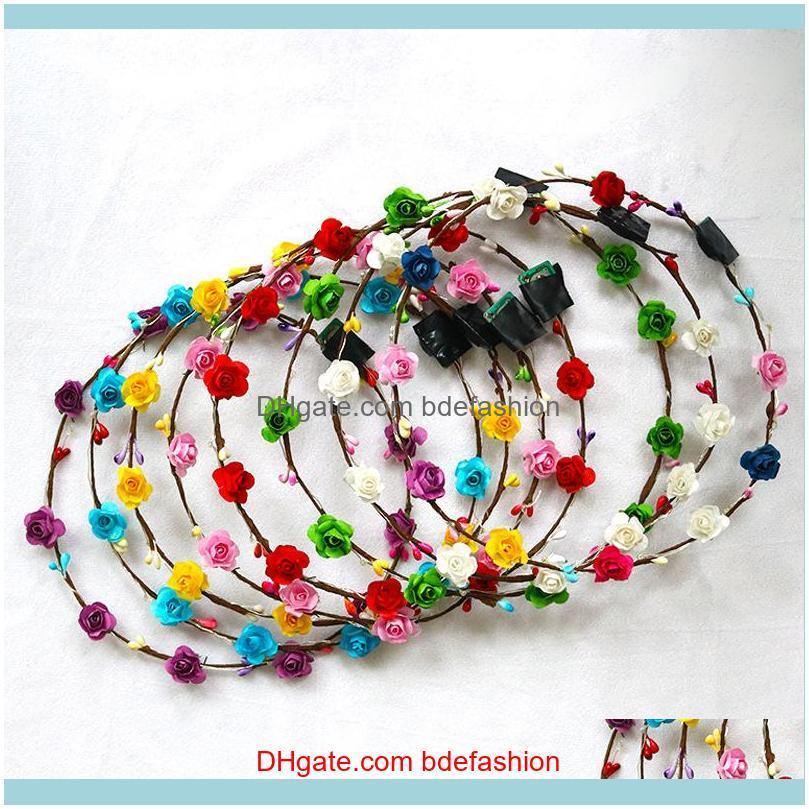 Flashing LED Hairbands strings Glow Flower Crown Headbands Light Party Rave Floral Hair Garland Luminous Wreath Fashion Accessories