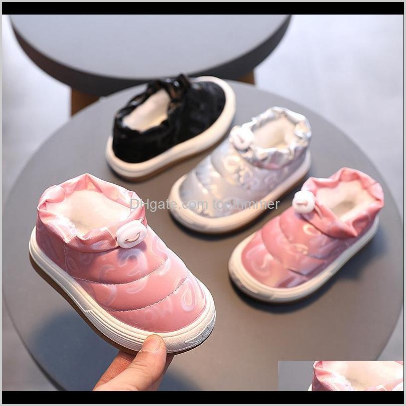 kine panda winter warm kids shoes for girls sneakers boys shoes with plush anti-slide toddler baby shoes 1 2 3 4 5 years old j1208