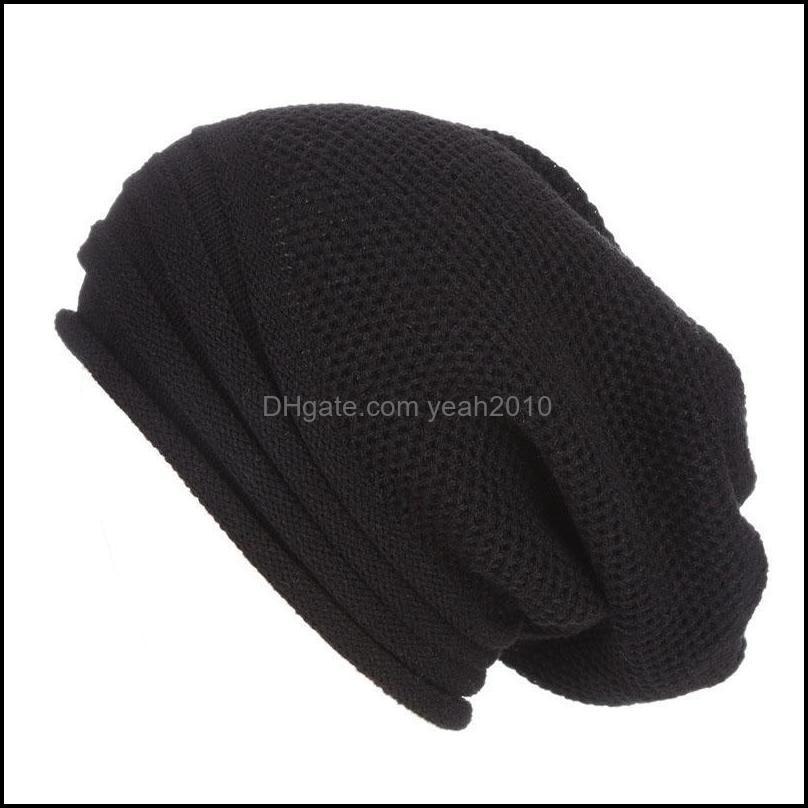 Winter Baggy Slouchy Beanie Hat Wool Knitted Warm Cap For Men Women SWD889 Beanies