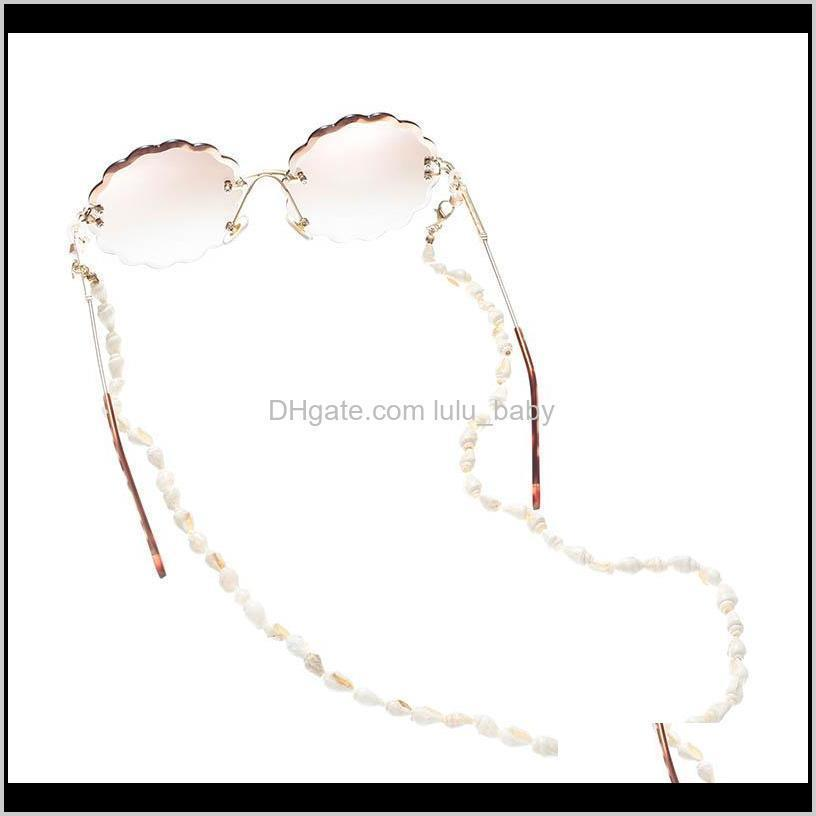 new arrival ocean style small conch link all-purpose eyeglasses chains with lobster clasp for face masks mouth mask chain