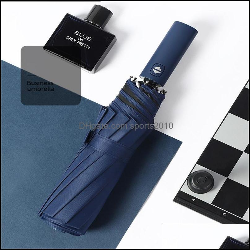 Umbrellas 10Ribs Windproof Travel Umbrella , Lengthened Handle With Auto Open Close Button, Compact Protection From Rain