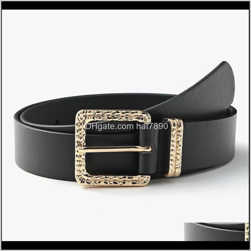 Irregular Geometric Buckle Alloy Belt High Quality Black Woman All-match Fashion Windbreaker Decorated Jeans Pin Belts