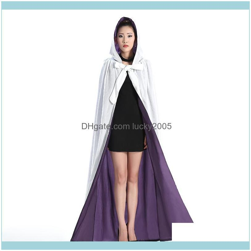 new arrival cheap velvet hooded cloaks winter wedding capes wicca robe warm christmas long bridal wraps s-6xl