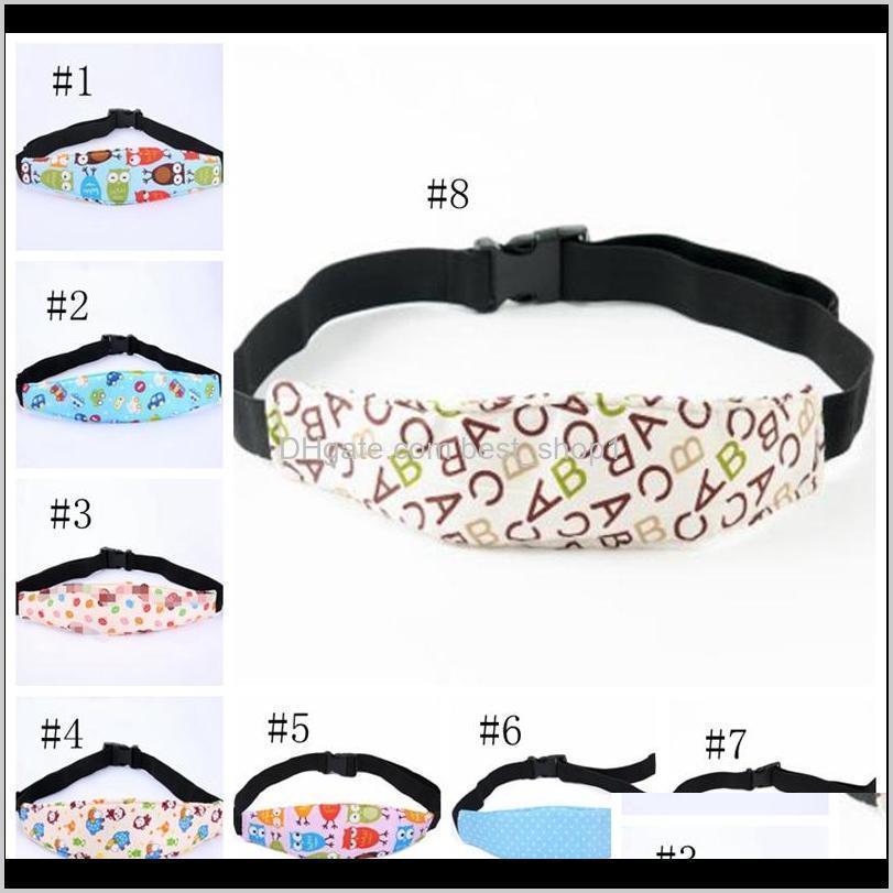 baby pram fastening belt adjustable stroller sleep positioner kids car safety head support kid head band strollers accessories dht478