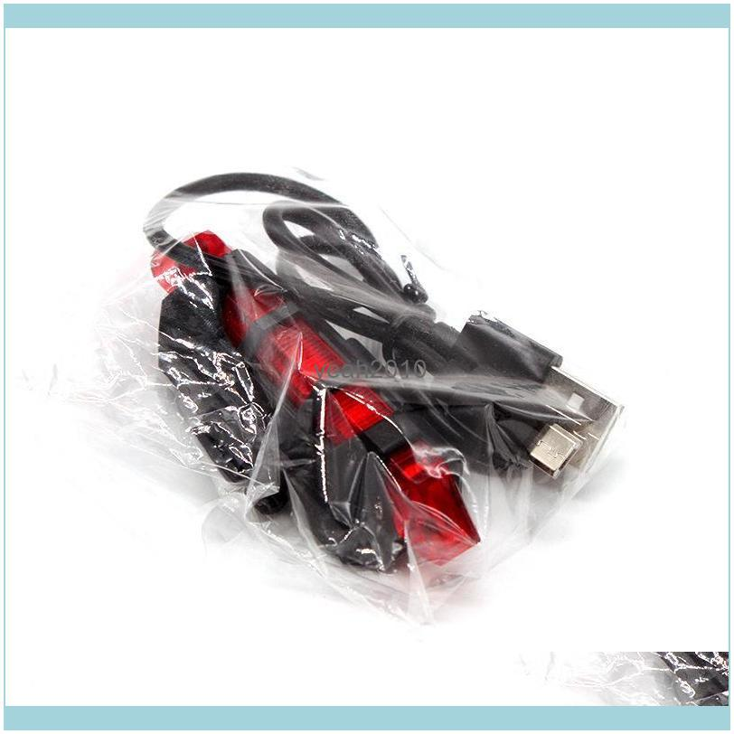 Bicycle Light USB Rechargeable LED Rear Safety Warning Taillight Cycling Flash Super Bright Bike Tail Lights
