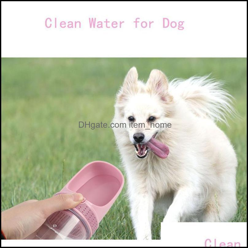 Dog Bowls & Feeders Portable Pet Water Bottle Transparent Small Large Travel Puppy Cat Drinking Filter Dispenser Leakproof Product