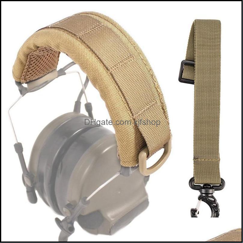 Outdoor Modular Headset Cover Molle Headband For General Tactical Earmuffs Microphone Hunting Accessories Headphone