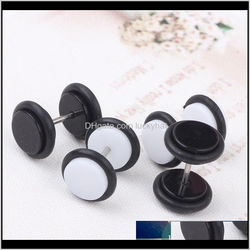 60pcs/lot cheater ear plugs gauges tapers fashion summer style men women fake tunnels body piercing jewelry faux septum rings