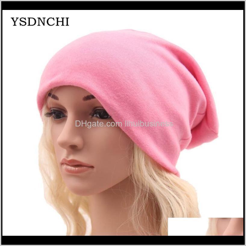 ysdnchi winter hats for women beanies cotton blended hip hop caps slouch warm hat festival unisex turban bonnet1