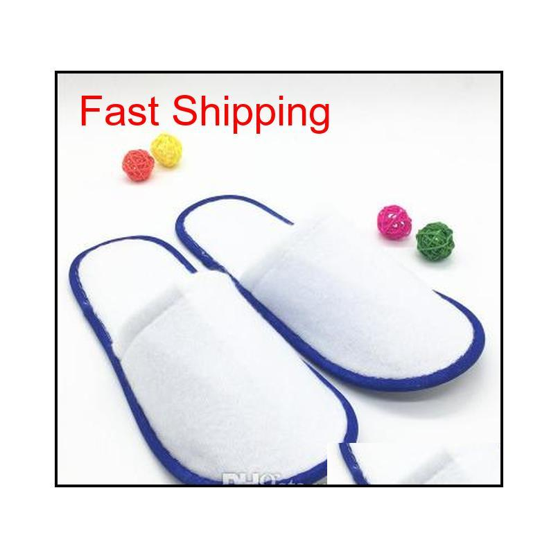 hotel disposable slippers logo printing can be customized l one-time fleece multi-color optional thickening 1808 white color