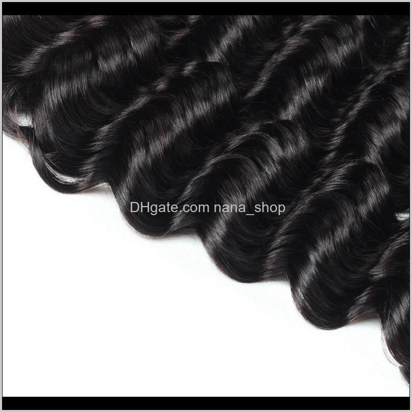 ishow a brazilian deep wave bundles 4pcs with 2*4 lace closure human hair bundles with closure wholesale cheap brazilian hair weave