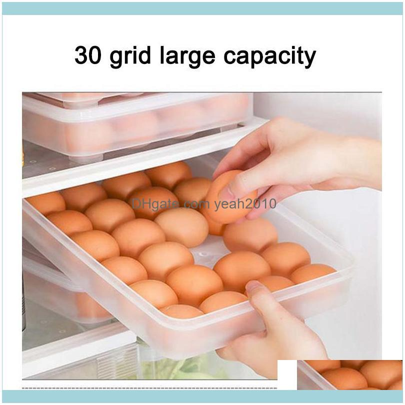 Storage Bottles & Jars 30 Grid Egg Box Large Capacity Stackable Container For Refrigerator HG99