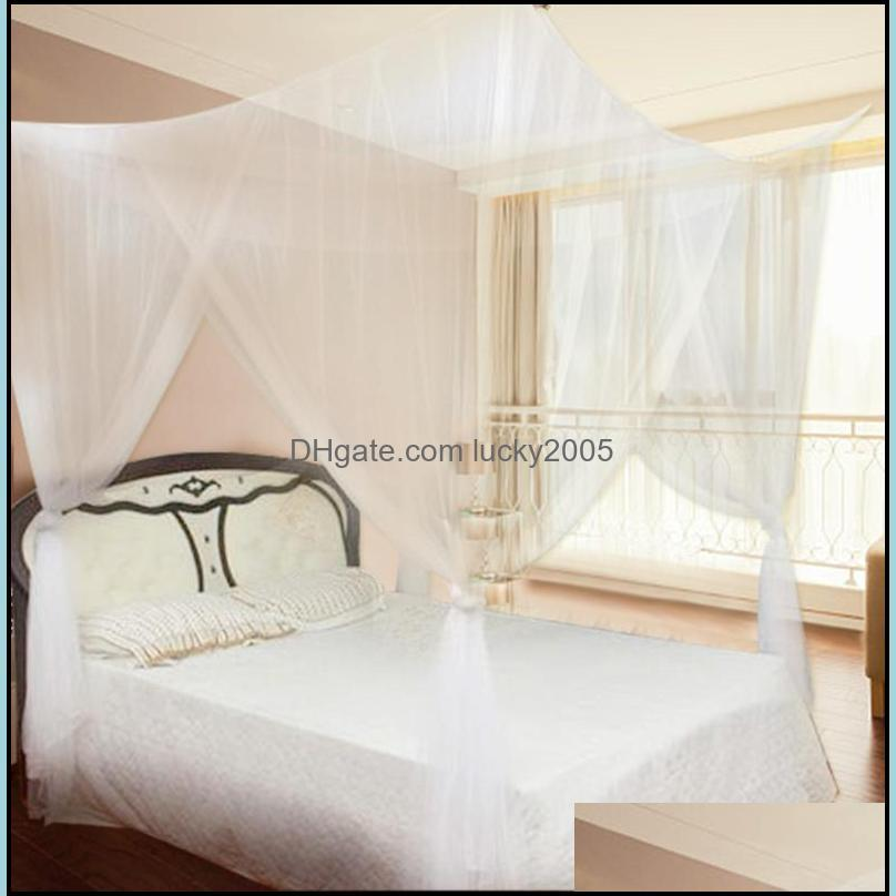 4 Corner Post Bed Canopy Post Bed Canopy Mosquito Net Netting Curtain Dustproof Home Bedding Full Size Bedding1