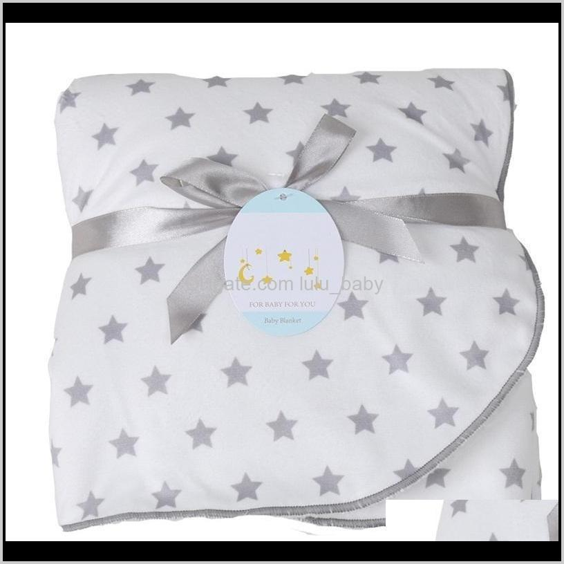 baby blankets new thicken double layer soft coral fleece infant swaddle bebe envelope stroller wrap newborn baby bedding blanket