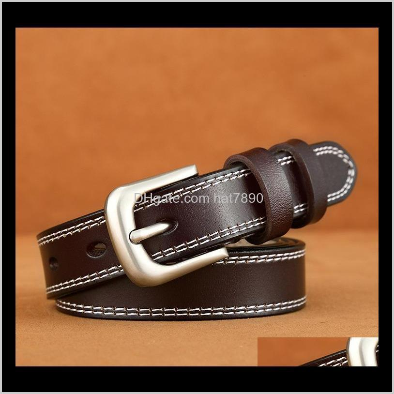 Belt Leather Ladies Retro Casual Needle Buckle Belt Version of Versatile Cowhand Leather Belt High Quality Leisure Soft Belts