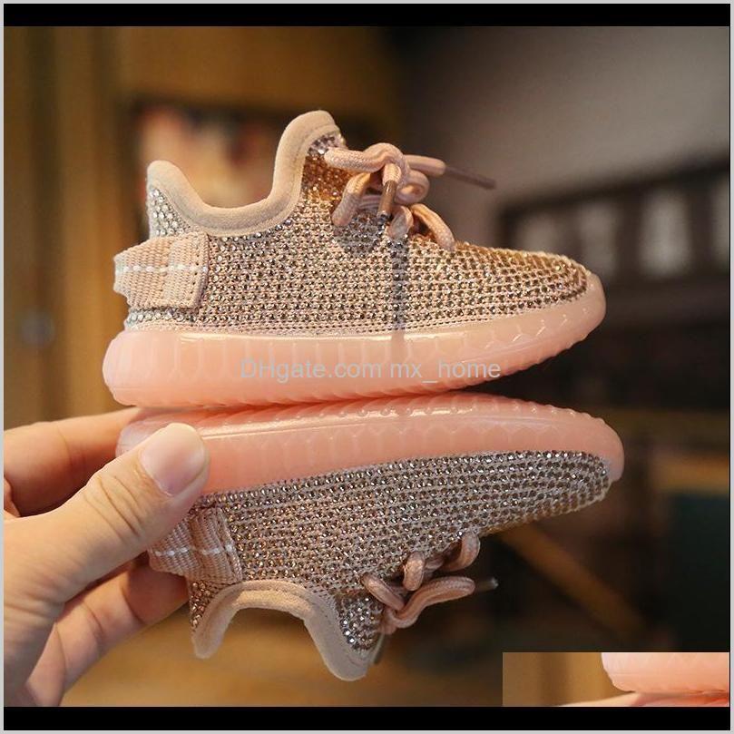 rhinestone baby sneakers autumn 0-2 years boy coconut sports girls toddler soft bottom children`s shoes 201119