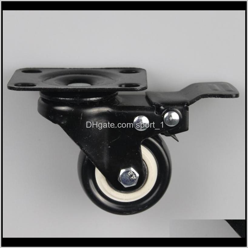 2 inch casters mute wear resisting universal wheel black rubber caster wheels truckle trundle commercial furniture cca11500-a 150pcs
