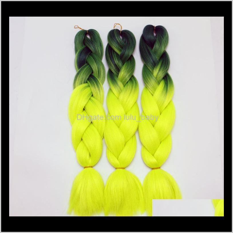 z&f kanekalon fashion braiding hair jumbo braids wefts ombre hair bulk synthetic hair extension colors 24inch 100g