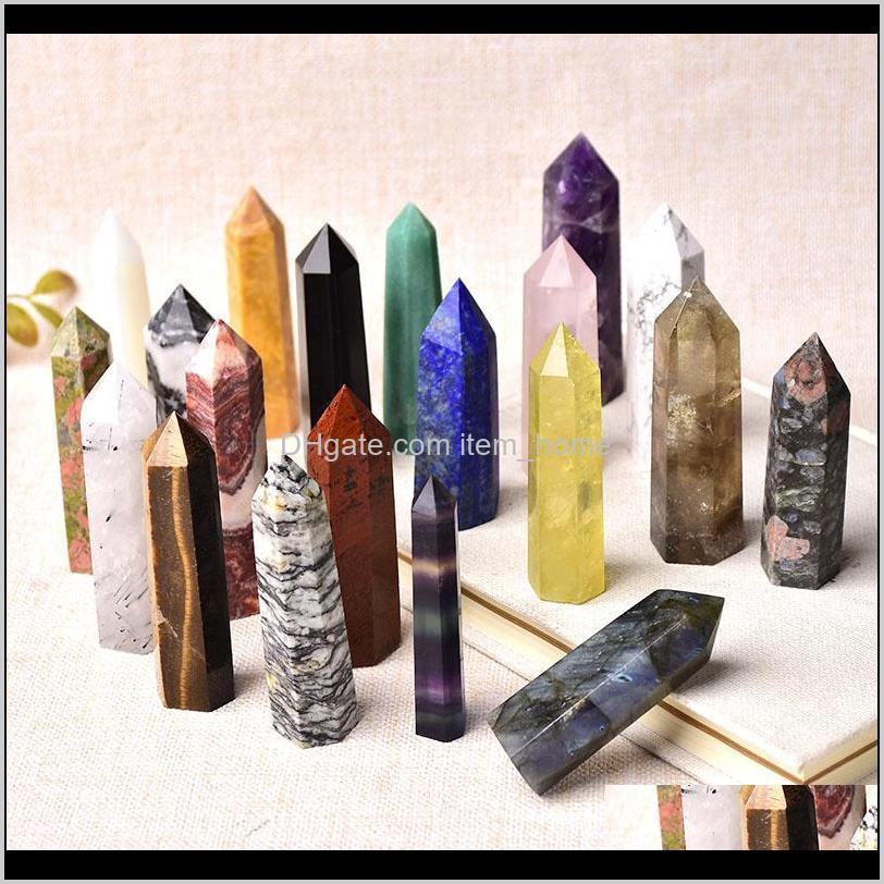 natural gem amethyst rose quartz healing stone energy ore mineral crafts home decorations