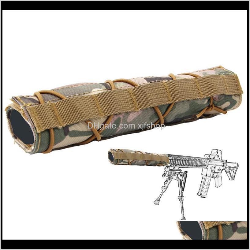 ar15 accessories tactical airsoft nylon 22cm silencer suppressor mirage heat cover shield sleeve shooting muffler baffler protector
