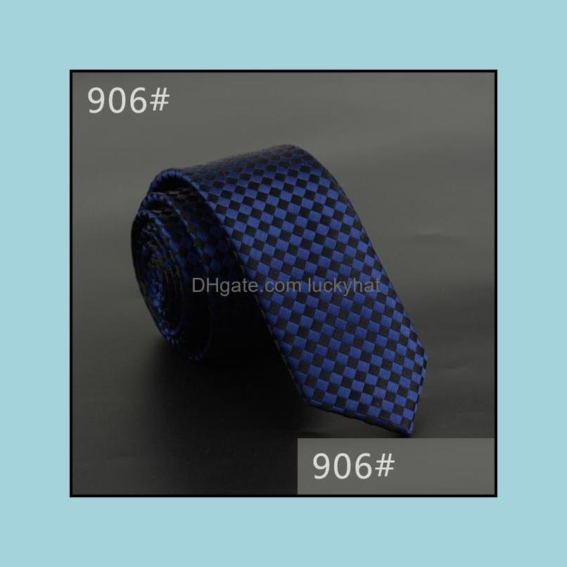 5cm Width Mens Ties New Fashion Plaid Neckties Corbatas Gravata Jacquard Woven Slim Tie Business Wedding Stripe Neck Tie For Men