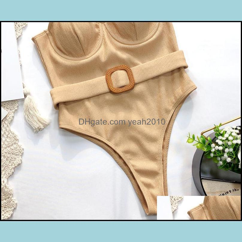 Casual One Piece Bikini Sets Stylish Bathing Suits Hollow Out Swimming Suit Solid Color Women Girls Beachwears