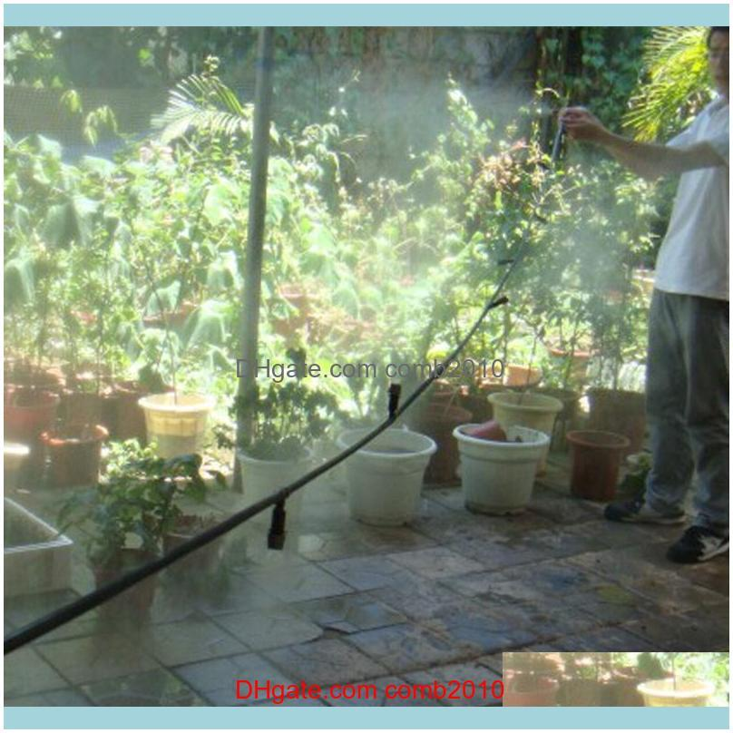 DIY 5/10/25m Fog Nozzles irrigation system Portable Misting Automatic Watering Garden hose Spray head with tee and connector1