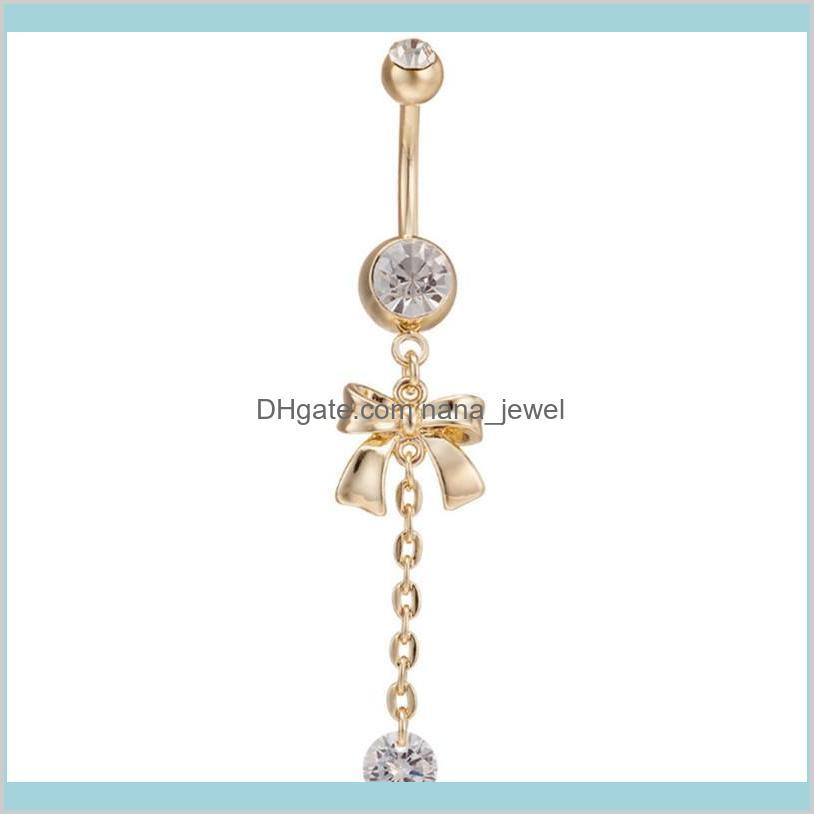 Bowknot 18K Gold Plated Navel Chain