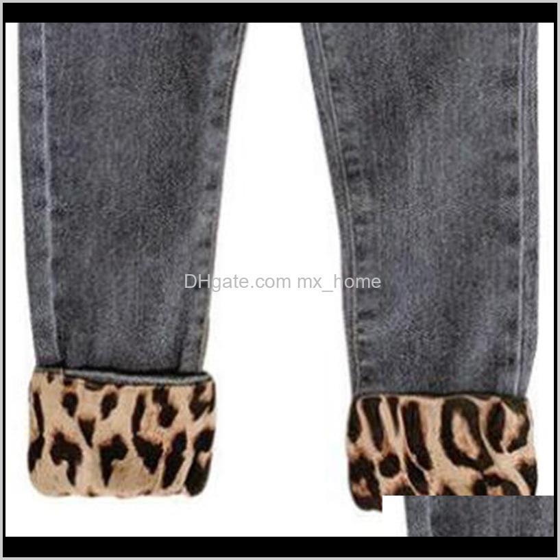 humor bear children`s clothing new children`s pants girls leopard jeans spring and autumn cotton baby kids children`s pants 201204