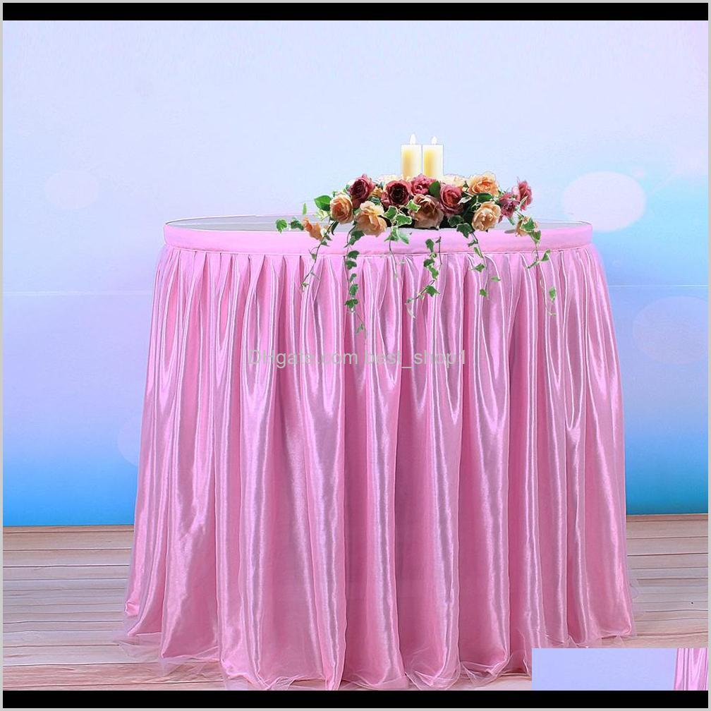 tulle tutu table skirt tableware cloth for party wedding banquet home decoration wedding table skirting 4 colors