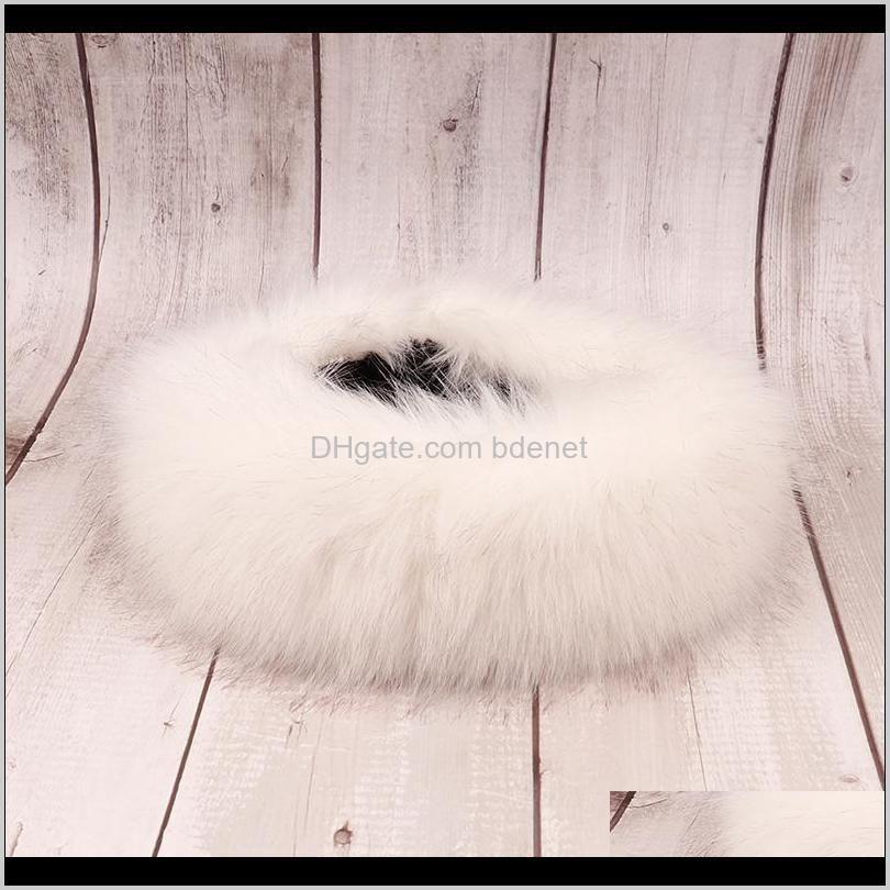 xugar winter ear warmer fur headband for women girls solid color bandanas faux fake fur ski bomber hat earmuff hair band