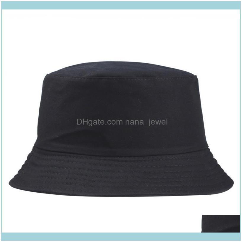 2019 New Portable Fashion Sexy Solid Color Folding Fisherman Sun Hat Outdoor Men And Women Bucket Cap Multi Season Cap F jllBMG