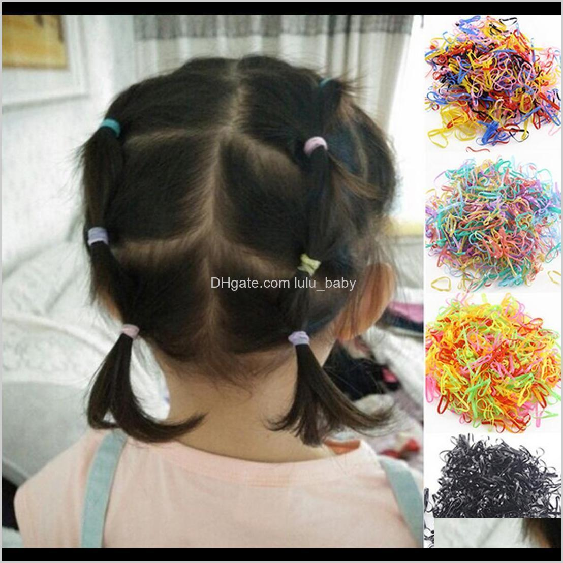 about 1000pcs/bag rubber hairband rope silicone ponytail holder elastic tpu hair holder tie gum rings girls hair accessories