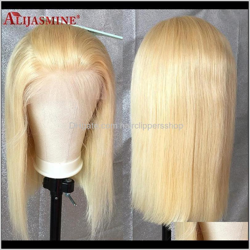 transparent lace wigs short bob wig lace front human hair wigs for black women brazilian straight remy blonde colored bob wig