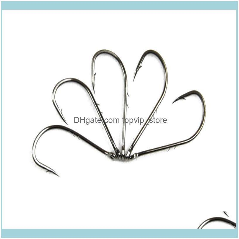 Pcs/Set Stainless Steel Hook Fishing Big Treble Long Barbed Silver Double Backstab Stalk Hooks