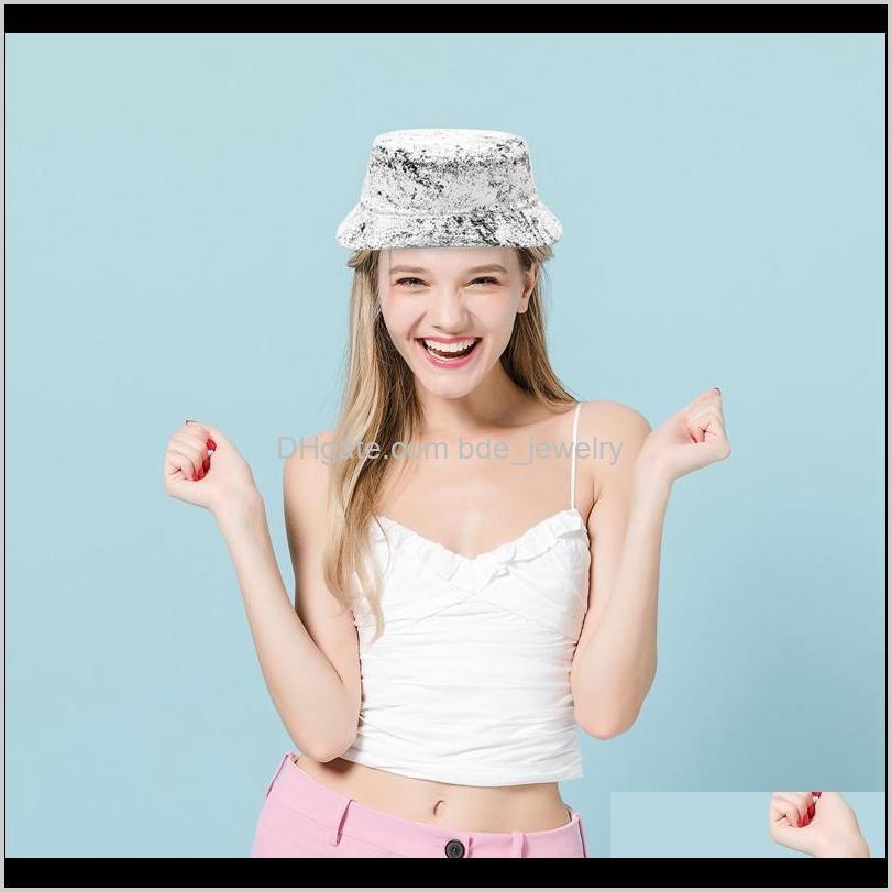 tie dye bucket hat fishing caps womens flat fishermen caps hip hop style streetwear fashion hat 2021 new