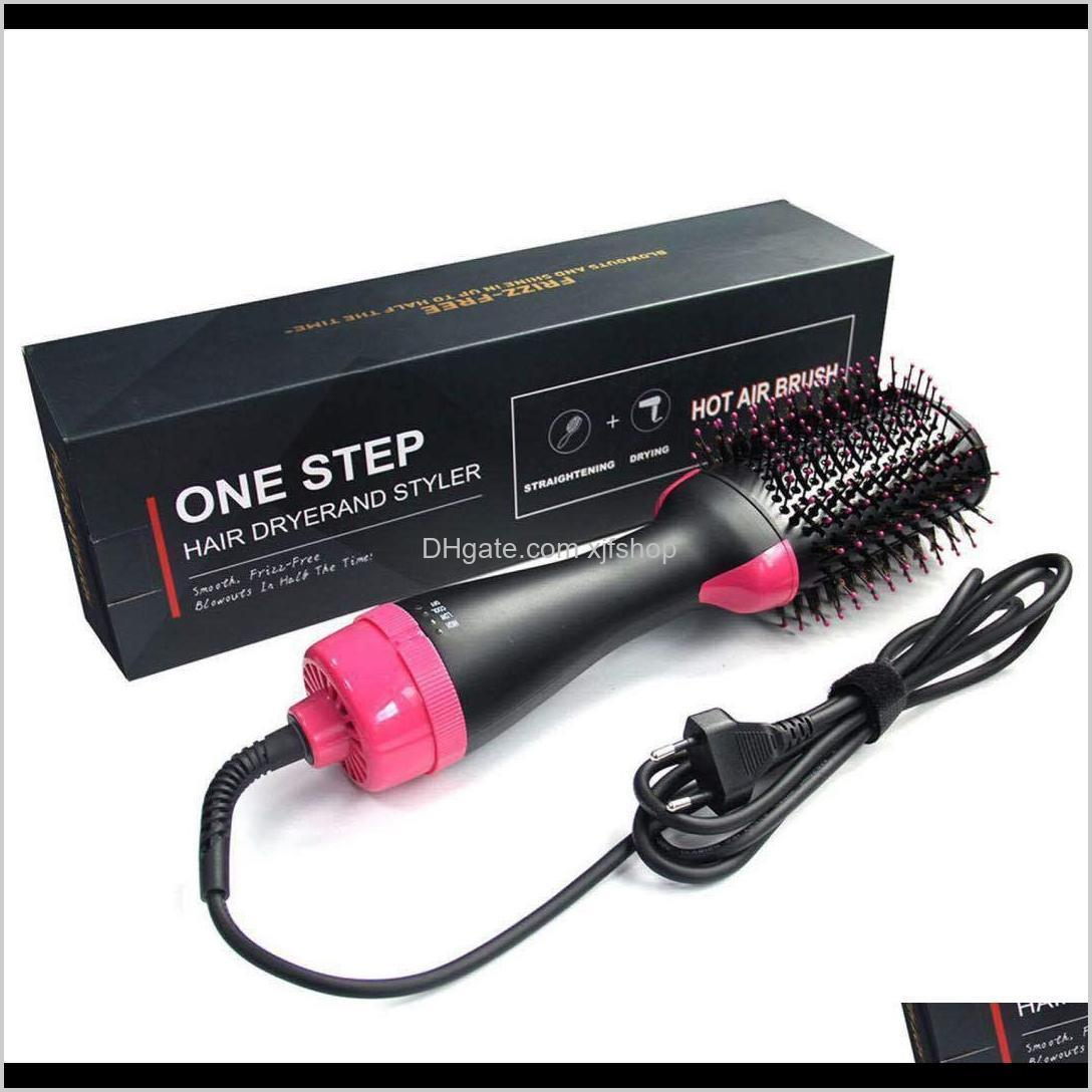 one step hair dryer brush and volumizer blow straightener and curler salon 4 in 1 roller electric hot air curling iron comb