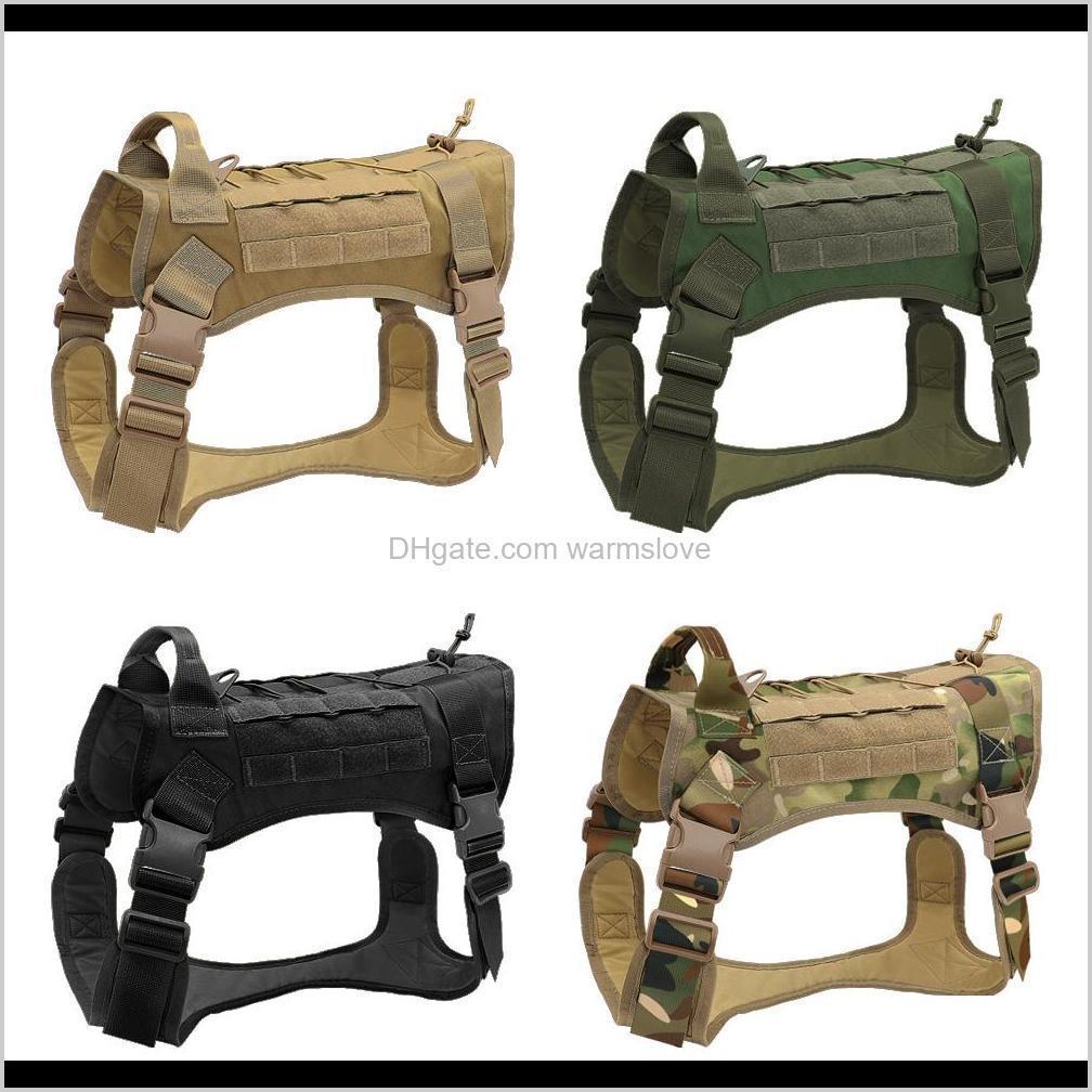 tactical dog harness vest military k9 working dog clothes harness leash set molle dog vest for medium large dogs german shepherd 1020